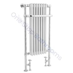 Bayswater Traditional Wesley 1130mm White Towel Rail