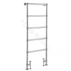 Bayswater Traditional Juliet Floor Mounted 1549mm Chrome Towel Rail