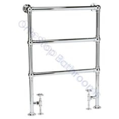 Bayswater Traditional Juliet Floor Mounted 966mm Chrome Towel Rail