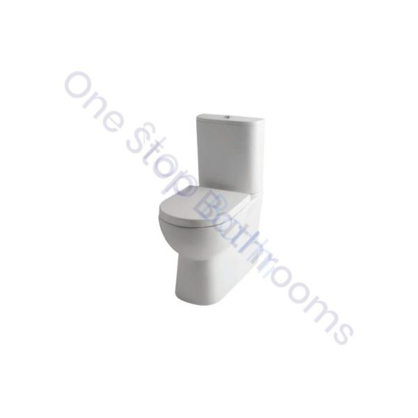 Eastbrook Farringdon Rimless Comfort Height BTW C/C WC Pan, Cistern & Soft Close Seat