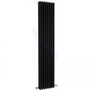 Bayswater Traditional Nelson 1800 x 400mm Triple Vertical Radiator Black