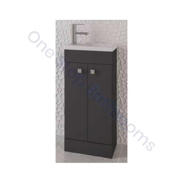 Eastbrook Oslo 39cm Door Base Unit - Gloss Anthracite