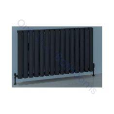 Eastbrook Burford Horizontal Aluminium Radiator 600 x 1185mm – Matt Anthracite