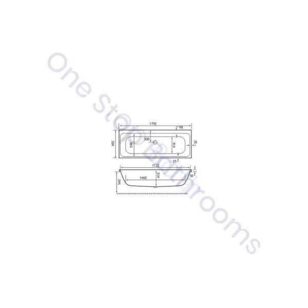 Carron Profile Duo 1800 x 700 5mm Bath