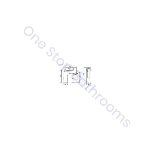 Eastbrook Helston Mono Basin Mixer Gloss white inc Waste
