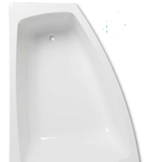 Carron Clipper 1575 x 1200 x 447-475mm Acrylic Offset Bath