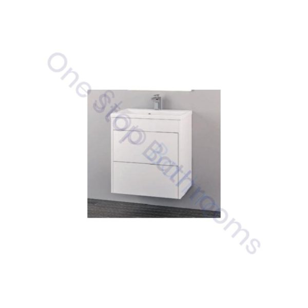 Eastbrook Oslo 58cm Wall Hung Push Drawer- Gloss White