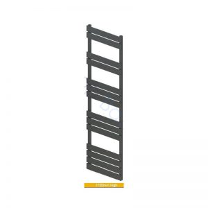 Addington Type10 Towel Rail 1750x500mm – Matt Anthracite