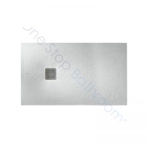 Roca Terran Extra Slim Frameless Resin Shower Tray 1400 x 800mm Off White