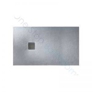 Roca Terran Extra Slim Frameless Resin Shower Tray 1400 x 800mm Cement
