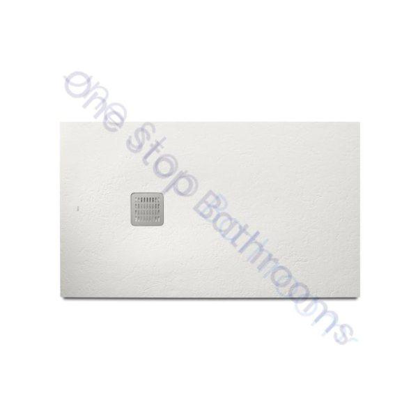 Roca Terran Extra Slim Frameless Resin Shower Tray 1400 x 900mm White