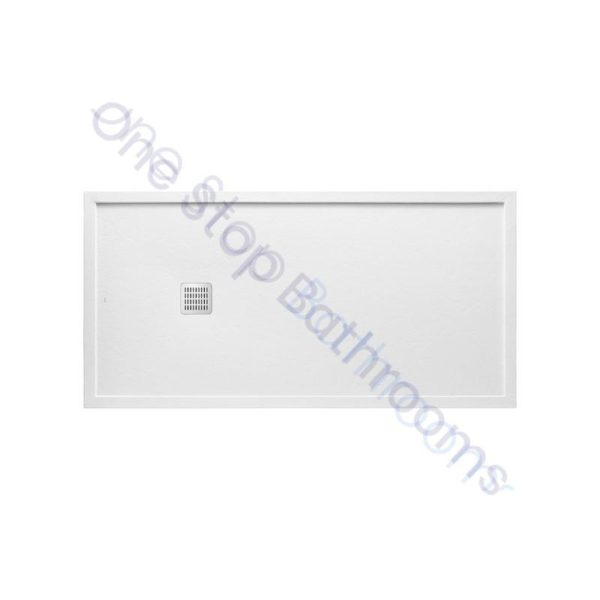 Roca Terran Extra Slim Framed Resin Shower Tray 1400 x 900mm White