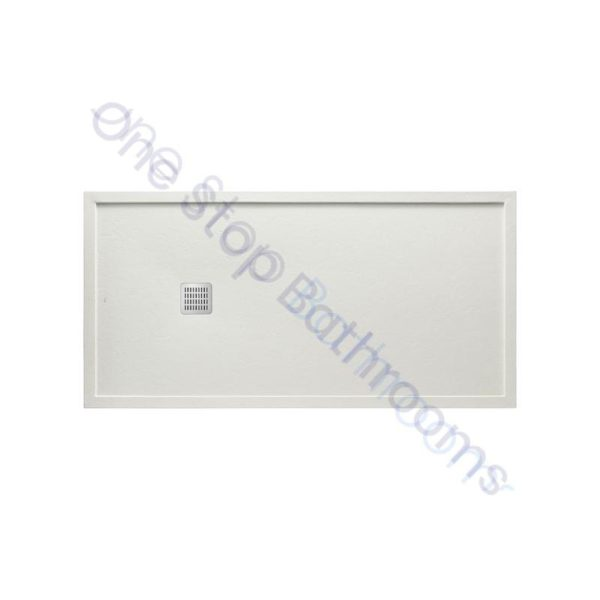 Roca Terran Extra Slim Framed Resin Shower Tray 1400 x 900mm Off White