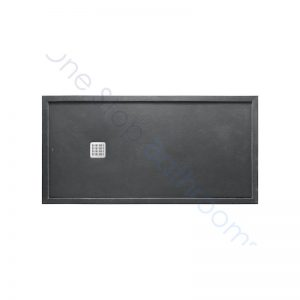 Roca Terran Extra Slim Framed Resin Shower Tray 1400 x 900mm Slate