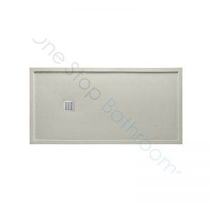 Roca Terran Extra Slim Framed Resin Shower Tray 1400 x 900mm Cement