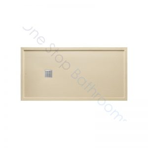 Roca Terran Extra Slim Framed Resin Shower Tray 1400 x 900mm Cream
