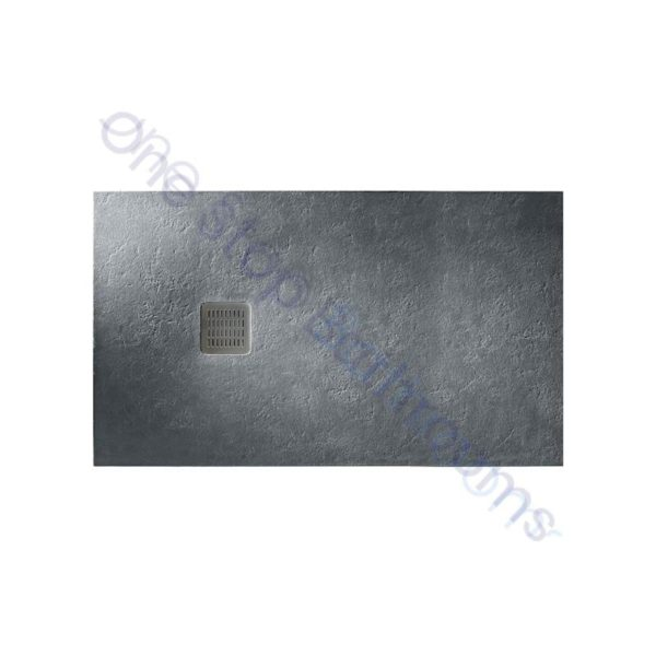 Roca Terran Extra Slim Frameless Resin Shower Tray 1400 x 700mm Slate