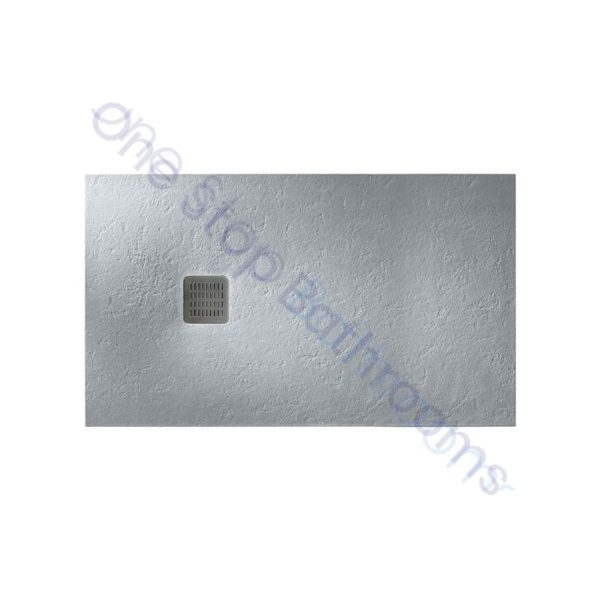Roca Terran Extra Slim Frameless Resin Shower Tray 1400 x 700mm Cement