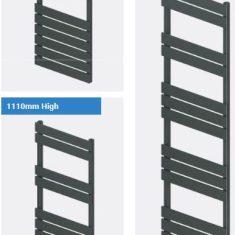 Addington Type10 Eastbrook Towel Rail 1750x500mm – Matt Anthracite