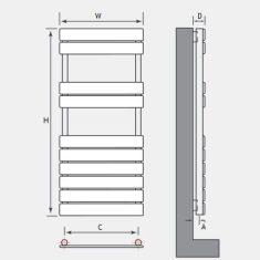 Addington Type10 Eastbrook Towel Rail 1110x400mm – Gloss White
