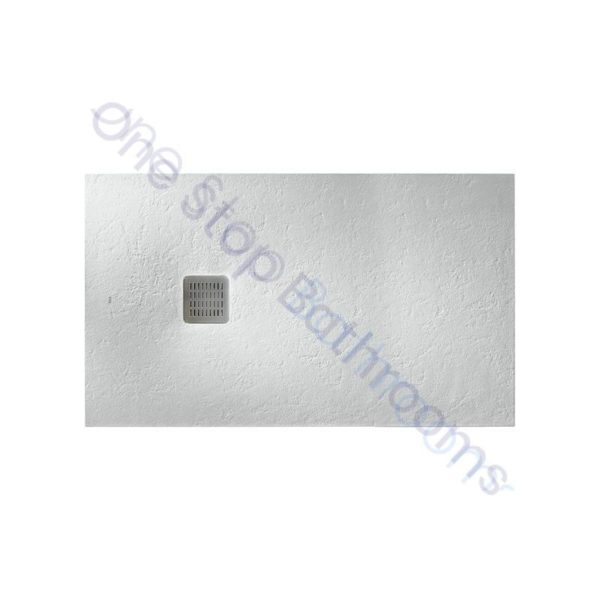 Roca Terran Extra Slim Frameless Resin Shower Tray 1000 x 800mm Off White