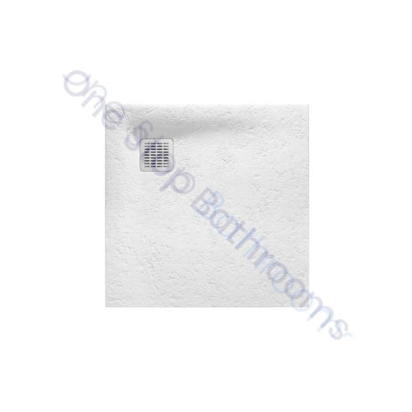 Roca Terran Extra Slim Frameless Resin Shower Tray 800 x 800mm White