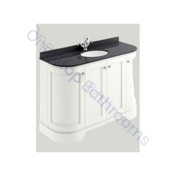 Bayswater 1200mm 4 Door Curved Basin Cabinet