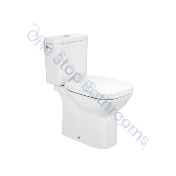 Roca Debba Close Coupled WC with Top Flush Cistern and Soft Close Seat
