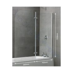 Eastbrook Volente 2 Part Hinged Bath Screen 1465 x 1550mm