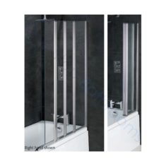 Eastbrook Volente 6mm 1 Fixed – 3 Fold Bath Screen 1000mm