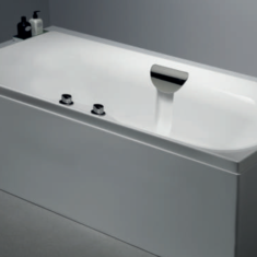 Carron Echelon with Tap Ledge 1700 x 750 x 420mm Double Ended Carronite Bath