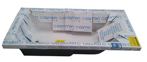 Carron baths packaging