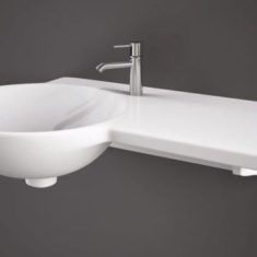RAK Gina Wall Mounted Wash Basin with LH/RH Ceramic Ledge 1TH