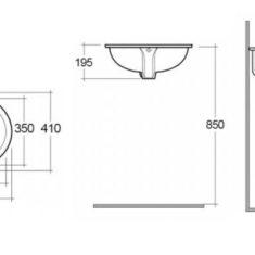 RAK Rosa 57cm Under Counter Wash Basin