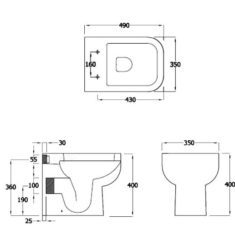 RAK Series 600 Back to the Wall Pan with Sandwich Soft Close Seat