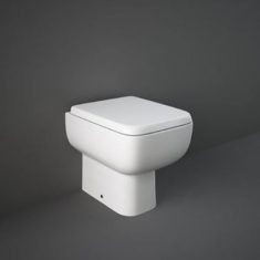 RAK Series 600 Rimless Back to the Wall Pan with Slimline Wrap over Soft Close Seat