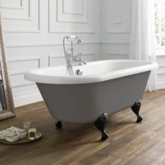 April Skipton Double Ended 1700mm Freestanding Bath – Dove Grey