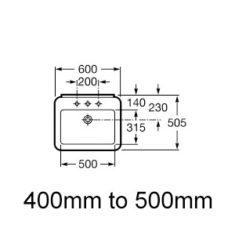 400mm - 500mm Width