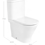 Roca The Gap Round Compact Rimless BTW C/C WC Pan,Cistern & Soft Close Seat