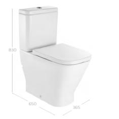 Roca The Gap Square Comfort Height C/C WC Pan,Cistern & Soft Close Seat