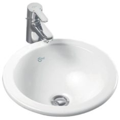 Ideal Standard Concept Sphere 380mm Countertop Basin No Tap Deck with Overflow
