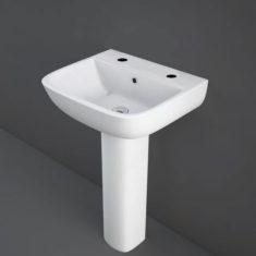 RAK Series 600 520mm Basin With Full or Half Pedestal