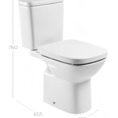 Roca Debba C/C Open Back WC Pan, Eco Cistern & Soft Close Seat Offer