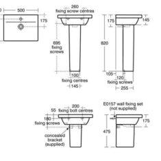Ideal Standard Concept Space Furniture or Pedestal Basin