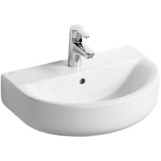 Ideal Standard Concept Space 550mm Arc Pedestal Basin – Short Projection