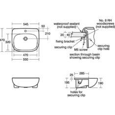 Ideal Standard Jasper Morrison 550mm Semi Countertop Basin