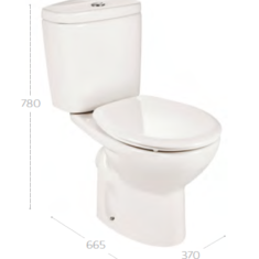 Roca Laura C/C Open Back WC Pan, Eco Cistern & Soft Close Seat- Boxed Pack