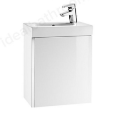 Roca Mini 1 Door Gloss White Cloakroom Furniture Pack