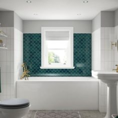 BC-SolidBlue Modica Bath 1700 x 700mm