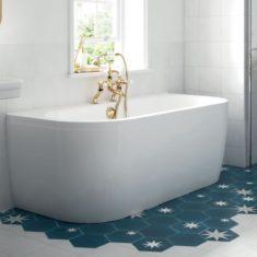 BC-SolidBlue Monreale Bath and Panel 1700 x 750mm
